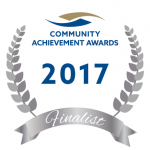 Community achievement awards finalist logo