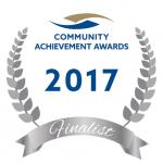 Community achievement awards finalist logo